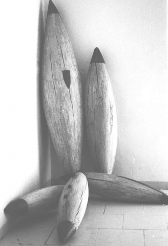 sculpture - lood en beukenhout