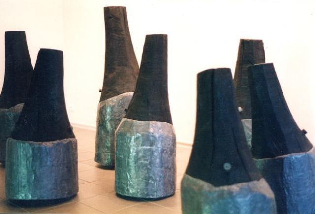 sculpture - lood en populier