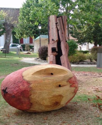 sologne, wood sculpture, beeldhouwwerk hout, jaak hillen
